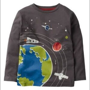 NWT Mini Boden Glow in the Dark Space T-Shirt 2-3Y